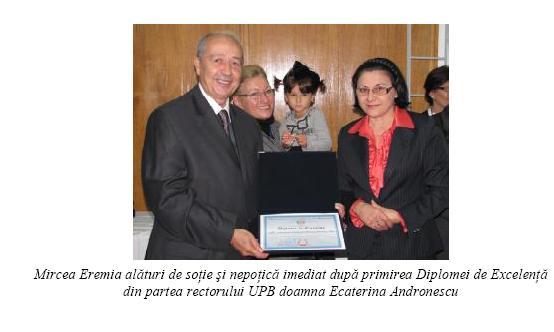 ANIVERSARE PROFESOR DR. ING. MIRCEA EREMIA UPB