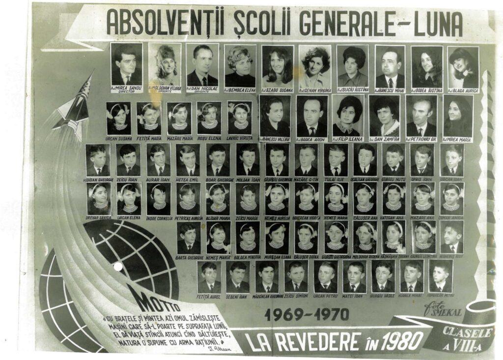 Absolvenții școlii generale - Luna - 1969 - 1970