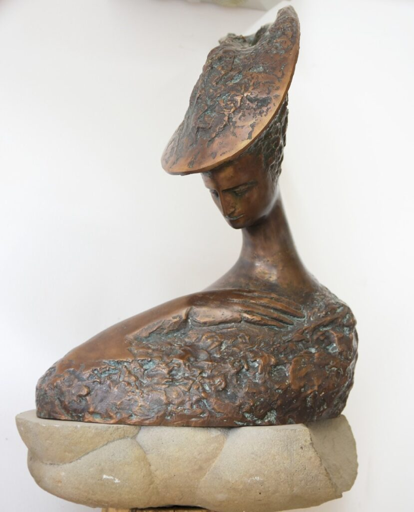 Anton Rațiu - MELANCOLIE - bronz H 55 cm 1998