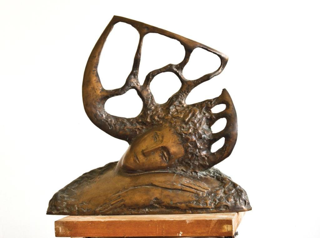 Anton Rațiu- REVERIE - bronz H 50 cm 1996