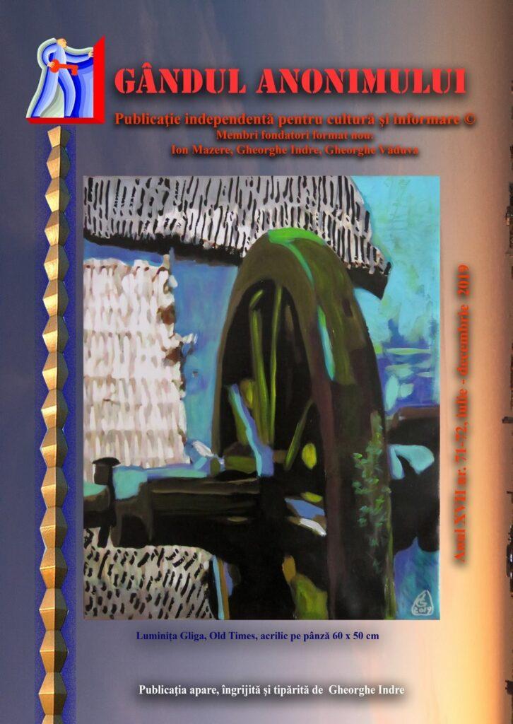GÂNDUL ANONIMULUI - 71-72 - coperta 1